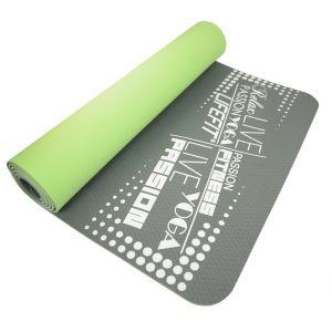Life Fit Στρώμα γυμναστικής Yoga Mat Professional TPE02-01 Γκρι-Πράσινο
