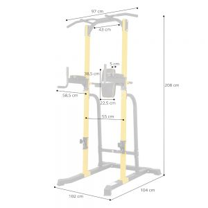 InSportline Μονόζυγο/Δίζυγο ρυθμιζόμενο Power Tower PT250