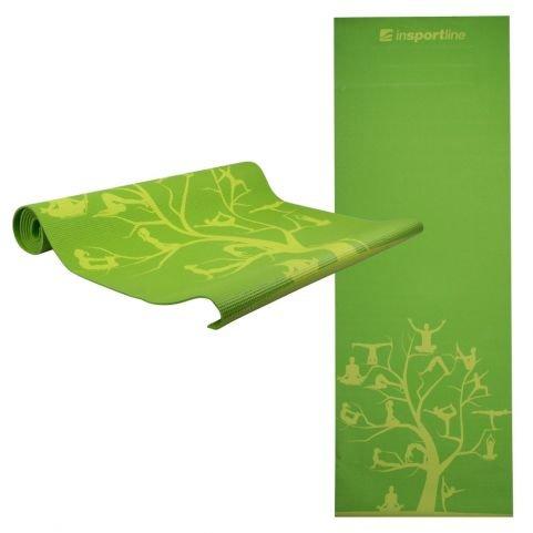 Insportline Στρώμα Yoga με θήκη μεταφοράς 172 x 61cm IS1172 Πράσινο