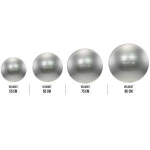 Life Fit Pro GymBall Επαγγελματική Μπάλα γυμναστικής 55cm - 85cm Ασημί F-GYM-55-85-11