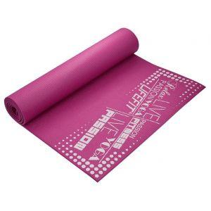 Life Fit Στρώμα γυμναστικής Yoga Mat SlimFit A02-07 Φούξια