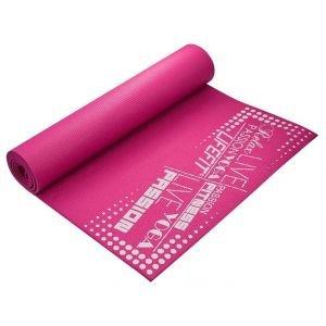 Life Fit Στρώμα γυμναστικής Yoga Mat SlimFit A02-03 Ροζ