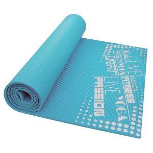 Life Fit Στρώμα γυμναστικής Yoga Mat SlimFit A02-04 Τυρκουάζ