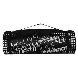 Life Fit Στρώμα γυμναστηρίου NBR Mat Exclusive C01-06 180 x 60cm Μαύρο