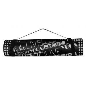 Life Fit Στρώμα γυμναστηρίου NBR Mat Exclusive C02-06 100 x 60cm Μαύρο