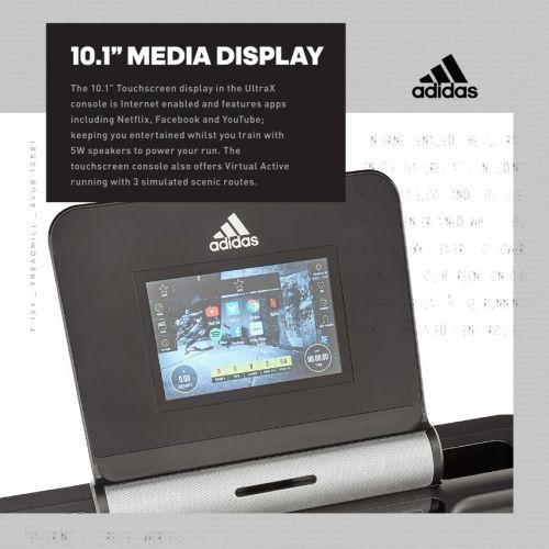 Adidas T‑19x Hλεκτρικός Διάδρομος Γυμναστικής 4.0HP