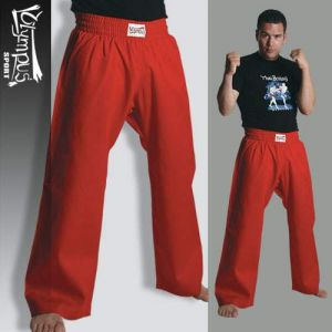 Trousers Olympus Cotton Red
