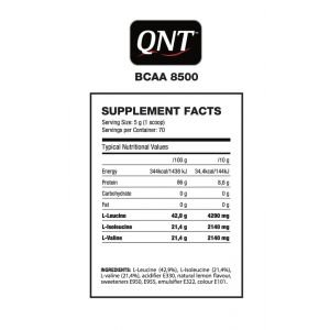 QNT BCAA 8500 INSTANT POWDER 350gr