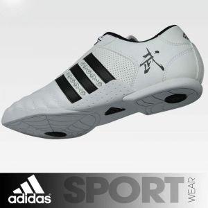 Wu-Shu Shoes adidas White - Black Stripes