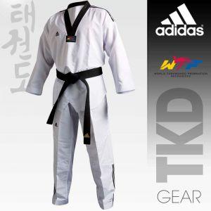 Taekwondo Uniform adidas - FIGHTER  Stripes