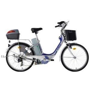 MI.GI Sissy 24 Suspensio e Bike n Ασημί-Μπλέ