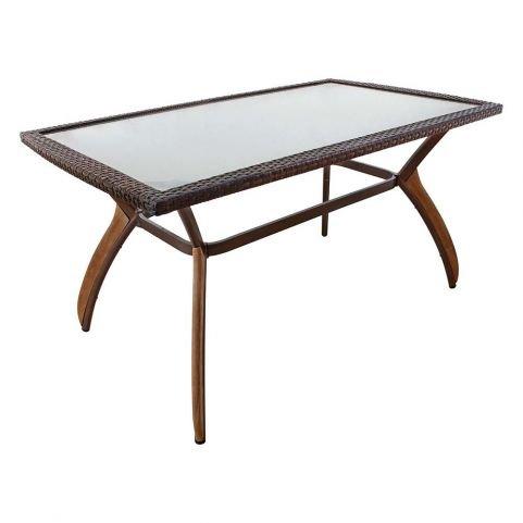 Τραπέζι Αλουμινίου με Τeak 140x80cm